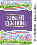 vector poster for easter egg... | Shutterstock .eps vector #1322241890