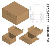 box packaging die cut template... | Shutterstock .eps vector #1322247263