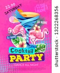 cocktail party disco poster... | Shutterstock .eps vector #1322268356