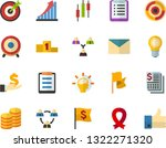 color flat icon set   memorial... | Shutterstock .eps vector #1322271320