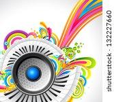 illustration of loudspeaker... | Shutterstock .eps vector #132227660
