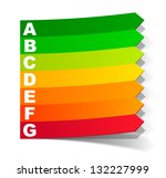 jpg  energy classification in... | Shutterstock . vector #132227999