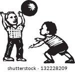 black and white vector... | Shutterstock .eps vector #132228209