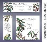 vector invitation for wedding... | Shutterstock .eps vector #1322282450
