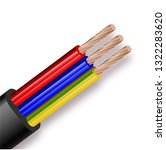 flexible three wire electrical... | Shutterstock .eps vector #1322283620
