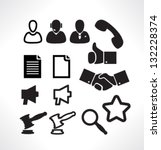 set isolated icons for web.... | Shutterstock .eps vector #132228374