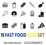 fast food icon set  vector.... | Shutterstock .eps vector #1322286833
