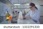portrait adult caucasian doctor ... | Shutterstock . vector #1322291333
