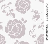 trendy floral background with... | Shutterstock .eps vector #1322298140