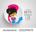 happy women's day on march 8th... | Shutterstock .eps vector #1322299670