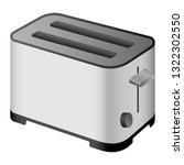 metal toaster icon. realistic... | Shutterstock .eps vector #1322302550