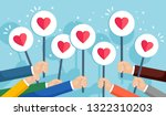 group of business people with... | Shutterstock .eps vector #1322310203