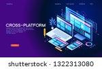 building mobile interface on... | Shutterstock .eps vector #1322313080