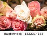 rose flowers for calendar and... | Shutterstock . vector #1322314163