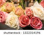 rose flowers for calendar and... | Shutterstock . vector #1322314196