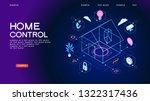 smart home control concept.... | Shutterstock .eps vector #1322317436