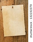 Постер, плакат: Parchment paper notice sign