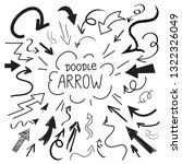 hand drawn arrow doodle... | Shutterstock .eps vector #1322326049