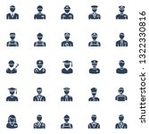 professional vector icons set... | Shutterstock .eps vector #1322330816