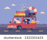 families leave their vacations... | Shutterstock .eps vector #1322331623