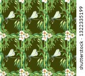bamboo background.bamboo stems... | Shutterstock . vector #1322335199