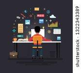 businessman marketer working at ... | Shutterstock .eps vector #1322343389