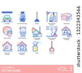 cleaning icons including car... | Shutterstock .eps vector #1322343566