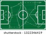 soccer field soccer game... | Shutterstock . vector #1322346419