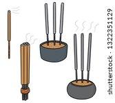 vector set of incense stick   Shutterstock .eps vector #1322351129