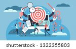 project management vector... | Shutterstock .eps vector #1322355803