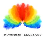 Colored Feathers On White...
