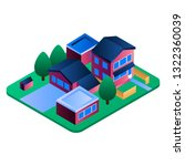 eco residence region icon.... | Shutterstock .eps vector #1322360039