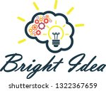 bright idea concept | Shutterstock .eps vector #1322367659