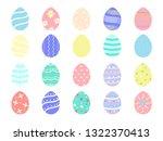 beauty colorful easter eggs... | Shutterstock .eps vector #1322370413