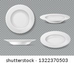 food white plate. empty plate... | Shutterstock .eps vector #1322370503