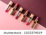 Different Lipsticks On Color...