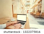 technology and travel. working... | Shutterstock . vector #1322375816