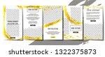editable stories template... | Shutterstock .eps vector #1322375873