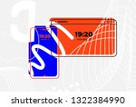 mobile phone and laptop. ui ux...   Shutterstock .eps vector #1322384990
