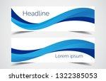 set of modern design   vector... | Shutterstock .eps vector #1322385053