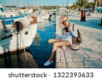 photography and travel. young... | Shutterstock . vector #1322393633