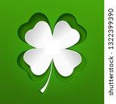 saint patricks white lucky... | Shutterstock .eps vector #1322399390