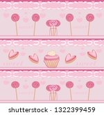 pink seamless candy pattern | Shutterstock .eps vector #1322399459