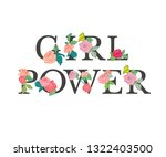 girl power   fashionable slogan ... | Shutterstock .eps vector #1322403500