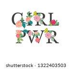 girl power   fashionable slogan ... | Shutterstock .eps vector #1322403503