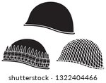military helmets vector icons... | Shutterstock .eps vector #1322404466