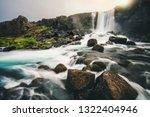landscape of oxararfoss... | Shutterstock . vector #1322404946