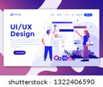 landing page template of ui ux...