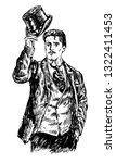 hand drawn portrait of... | Shutterstock .eps vector #1322411453