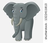 cute baby elephant isolated on... | Shutterstock .eps vector #1322411813